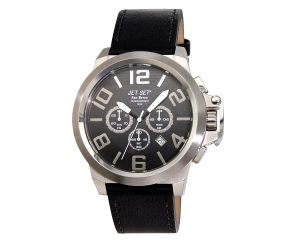 JET SET Watches San Remo Herrenchronograph schwarz