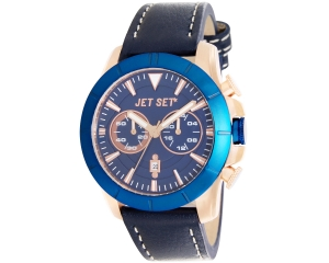 JET SET Watches Vienna Herrenarmbanduhr blau