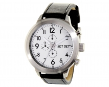 JET SET Watches MANHATTAN Damenuhr Lederband schwarz